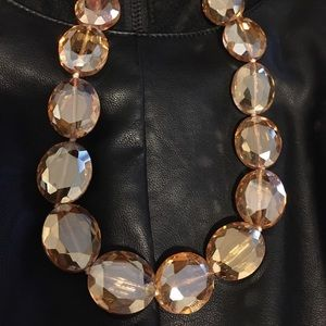 Aldo amber gold crystal chunky beaded necklace